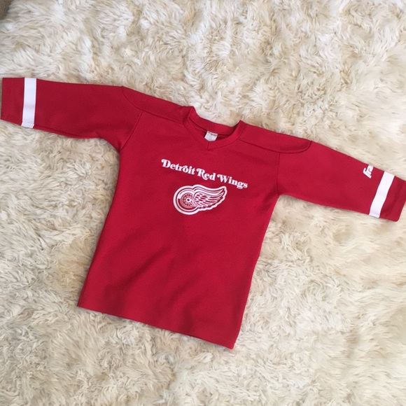 promo code 67502 dc8ee Detroit Red Wings Franklin Jersey kids Medium med